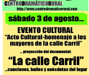 3 DE AGOSTO DE 2013 EVENTO CULTURAL EN EL CDR DE MIRA
