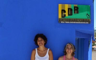 Magda Labarga y Cristina Verbena se despiden del CDR después de pasar unos días con nosotros