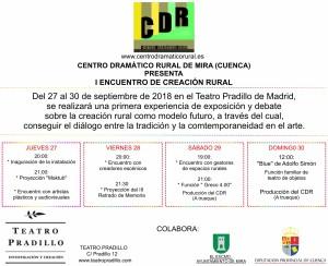I Encuentro de Creación Rural organizado por el Centro Dramático Rural